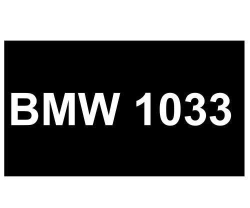 [VIP Number] - BMW 1033