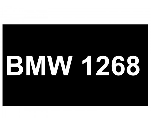 [VIP Number] - BMW 1268