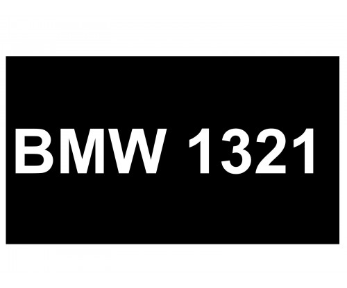 [VIP Number] - BMW 1321
