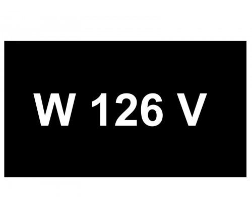 [VIP Number] - W 126 V