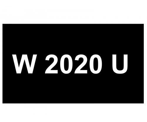 [VIP Number] - W 2020 U