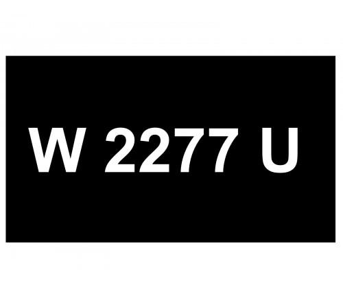 [VIP Number] - W 2277 U