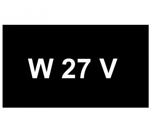 [VIP Number] - W 27 V