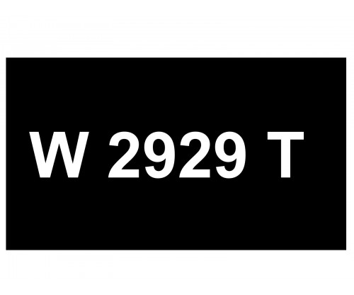 [VIP Number] - W 2929 T