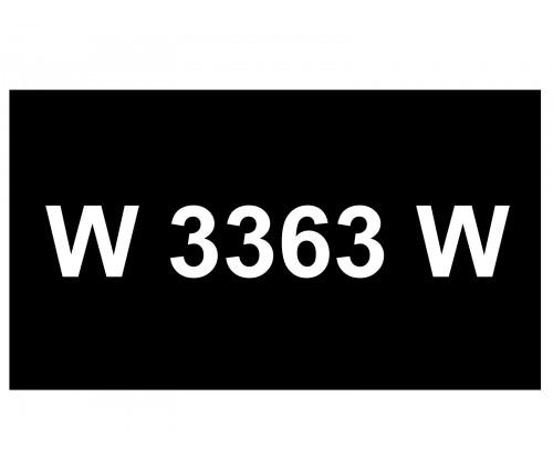 [VIP Number] - W 3363 W