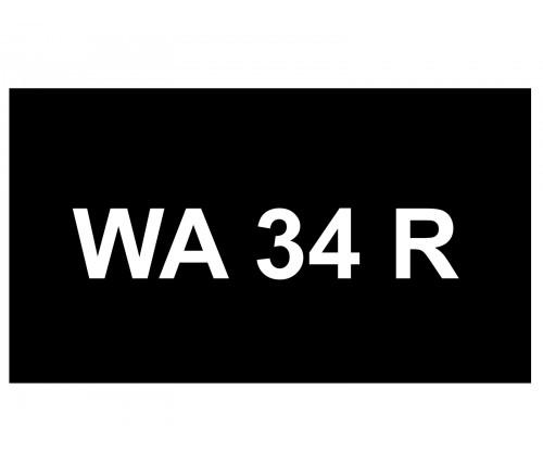 [VIP Number] - WA 34 R