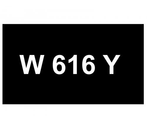 [VIP Number] - W 616 Y