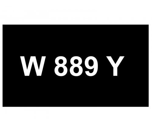 [VIP Number] - W 889 Y