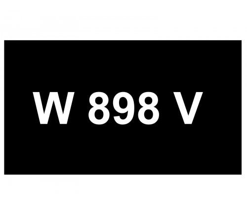 [VIP Number] - W 898 V