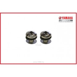 Y125ZR - Muffler Protector Screw Crome (HLY)