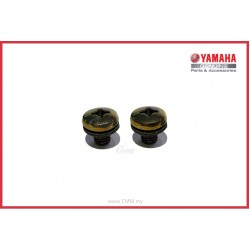 Y125ZR - Muffler Protector Screw Black (HLY)