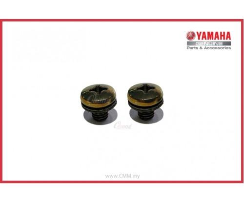 Y125ZR - Muffler Protector Screw Black (HLY)